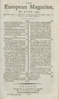 The European Magazine. Vol. XXVII, Juni, 1795