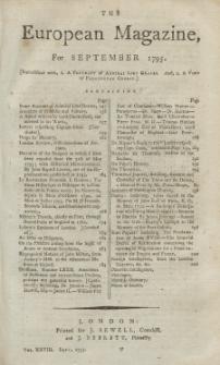 The European Magazine. Vol. XXVIII, September, 1795