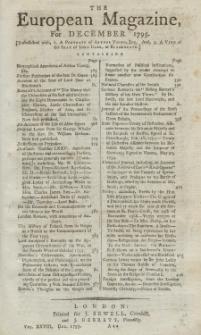 The European Magazine. Vol. XXVIII, Dezember, 1795