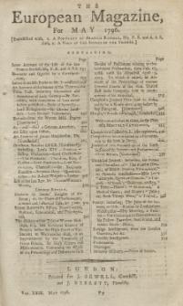 The European Magazine. Vol. XXIX, Mai, 1796