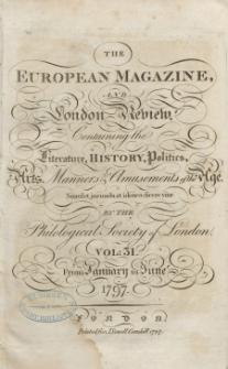 The European Magazine. Vol. XXXI, Januar, 1797