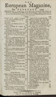 The European Magazine. Vol. XXXI, Februar, 1797
