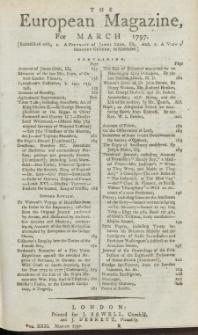 The European Magazine. Vol. XXXI, März, 1797