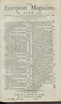 The European Magazine. Vol. XXXI, Juni, 1797