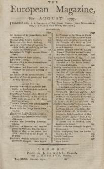 The European Magazine. Vol. XXXII, August, 1797