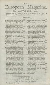 The European Magazine. Vol. XXXII, Oktober, 1797