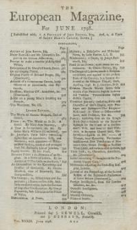 The European Magazine. Vol. XXXIII, Juni, 1798