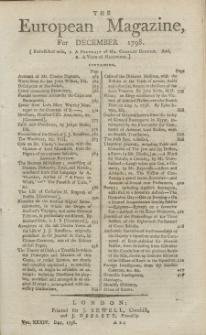 The European Magazine. Vol. XXXIV, Dezember, 1798