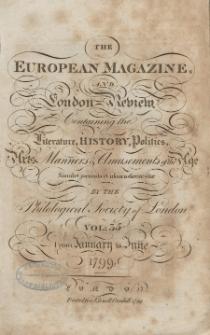 The European Magazine. Vol. XXXV, Januar, 1799