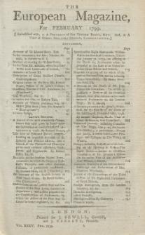 The European Magazine. Vol. XXXV, Februar, 1799