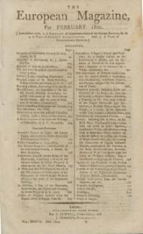 The European Magazine. Vol. XXXVII, Februar, 1800