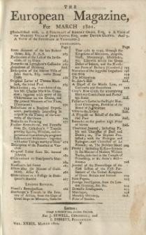The European Magazine. Vol. XXXIX, März, 1801