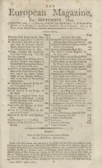The European Magazine. Vol. LXII, September, 1802