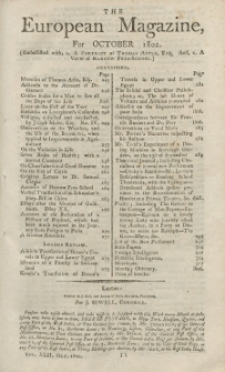 The European Magazine. Vol. LXII, Oktober, 1802