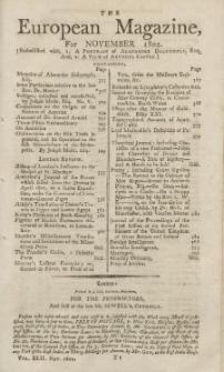 The European Magazine. Vol. LXII, November, 1802
