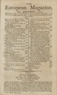 The European Magazine. Vol. LXII, Dezember, 1802