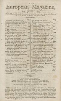 The European Magazine. Vol. LXV, Juni, 1804
