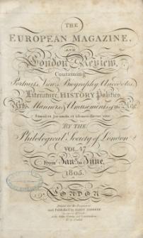 The European Magazine. Vol. XLVII, January, 1805