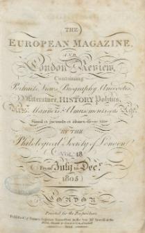 The European Magazine. Vol. XLVIII, Juli, 1805