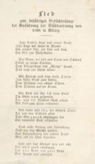 Lied zum 50 jährigen Gedächtnisstage der Einführung der Städteordnung von 1808 in Elbing