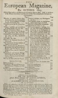 The European Magazine. Vol. XLVIII, Oktober, 1805
