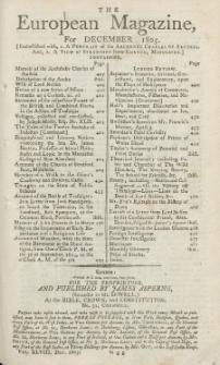 The European Magazine. Vol. XLVIII, Dezember, 1805