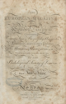 The European Magazine. Vol. XLIX, January, 1806