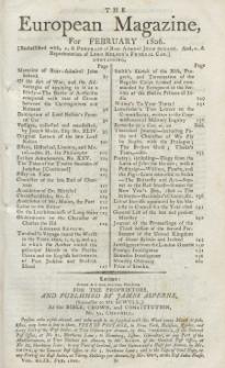 The European Magazine. Vol. XLIX, Februar, 1806