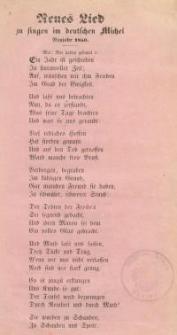 Neues Lied zu singen im deutschen Michel , Neujahr 1850