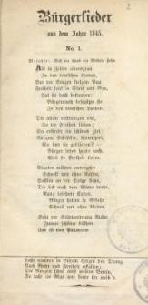 Bürgerlieder aus dem Jahre 1845