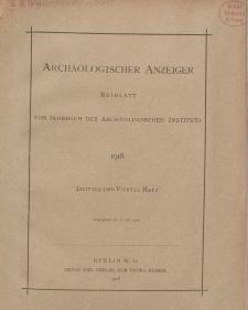 Archäologischer Anzeiger : Beiblatt zum Jahrbuch des Archäologischen Instituts, 1918, H. 3-4