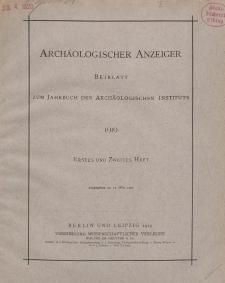 Archäologischer Anzeiger : Beiblatt zum Jahrbuch des Archäologischen Instituts, 1919, H. 1-2