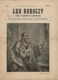 Lud Roboczy - pismo tygodniowe ilustrowane, 6 lipca 1907, nr 1, R. I.