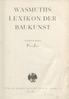 Wasmuth Lexikon der Baukunst. Bd. 4: P-Z