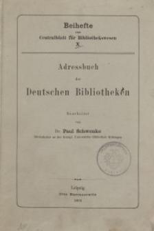 Adressbuch der Deutschen Bibliotheken