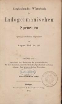 Vergleichendes Wörterbuch der indogermanischen Sprachen. Dritte Auflage: Bd. 2