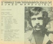 IV Biennale Form Przestrzennych w Elblągu: Zjazd Marzycieli : Jarosław Kozłowski - folder