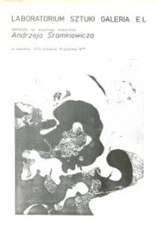 Andrzej Śramkiewicz - Wystawa Malarstwa w Laboratorium Sztuki Galeria El w Elblągu - plakat