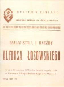 Łosowski Alfons - Wystawa Malarstwa i Rzeźby w Muzeum w Elblągu - zaproszenie