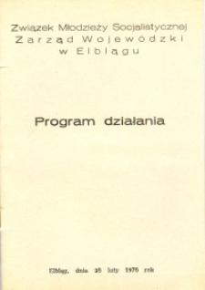 Program Działania Związku Młodzieży Socjalistycznej - broszura
