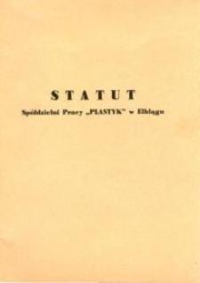 """Statut Spółdzielni Pracy """"Plastyk"""" w Elblągu z 1977 r. - broszura"""