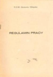 Regulamin Pracy Państwowego Ośrodka Maszynowego w Gronowie Elbląskim - broszura