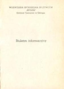 """Biuletyn Informacyjny """"Społem"""" Wojewódzkiej Spółdzielni Spożywców w Elblągu - broszura"""