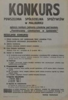 Powszechna Spółdzielnia Spożywców w Malborku; Konkurs - afisz