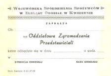 """Oddziałowe Zgromadzenie Przedstawicieli """"Społem"""" - zaproszenie"""