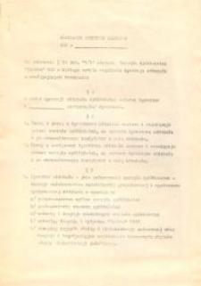Regulamin Dyrekcji Oddziału Wojewódzkiej Spółdzielni Spożywców w Elblągu - druk
