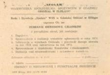 """Zebranie Obwodowe Członków Spółdzielni """"Społem"""" - zaproszenie"""