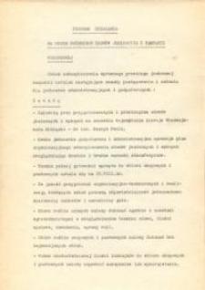 Program Działania Na Okres Przebiegu Siewów Jesiennych i Kampanii Wykopkowej 1975 r. - druk
