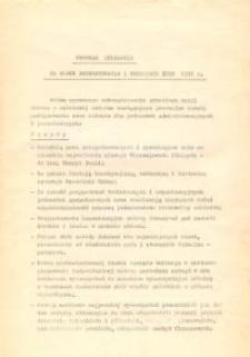 Program Działania Na Okres Przygotowania i Przebiegu Żniw 1975 r. - druk