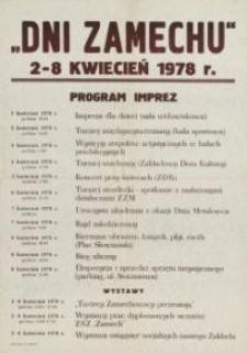 Dni Zamechu w Elblągu w 1978 r. - afisz
